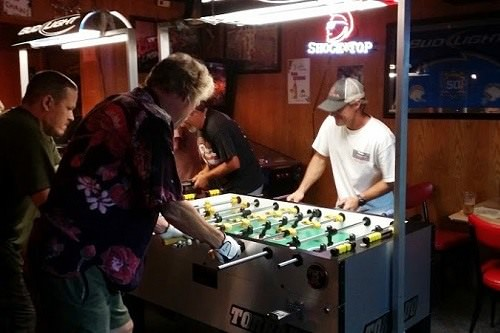 Foosball professionals, intermediates and amateurs