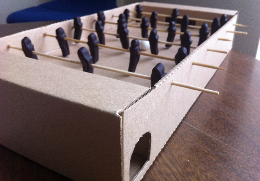 Making Your Own Cardboard Foosball Table GetFoosballcom - How much does a foosball table cost