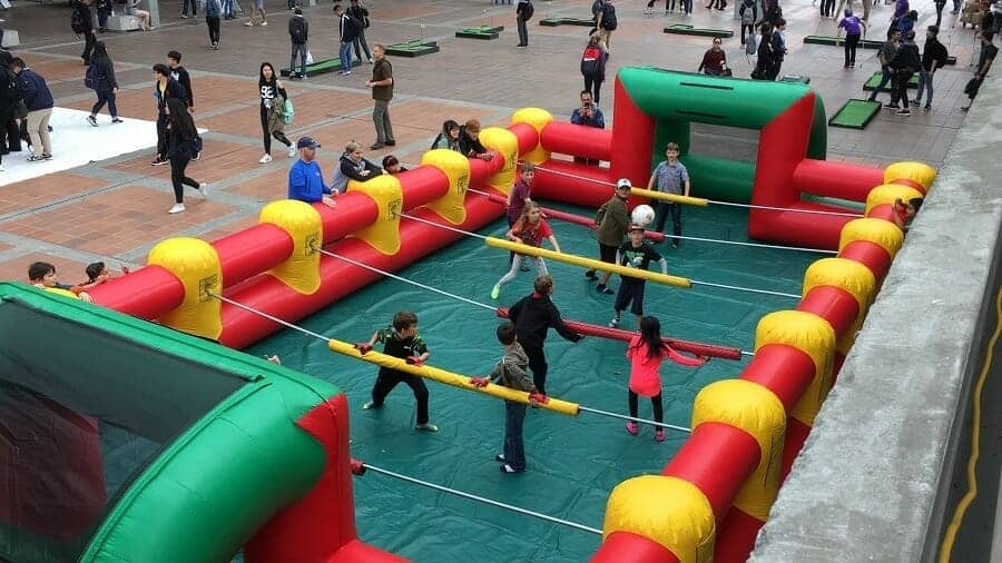 Bored? Try Your Hand At Human Foosball!
