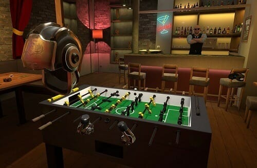 Playing Foosball In VR