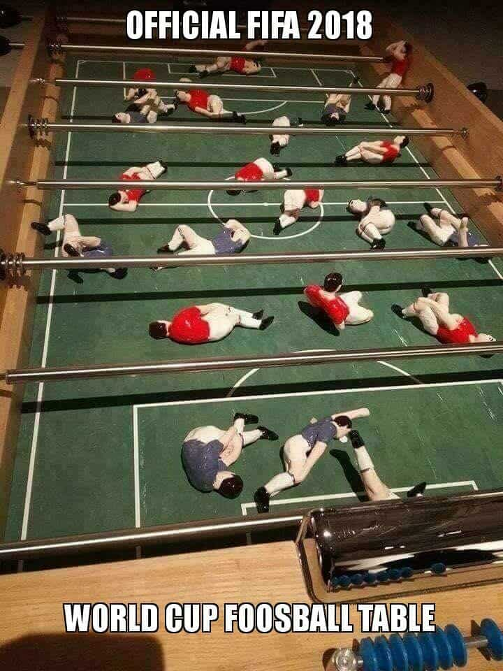 fallen foosball players