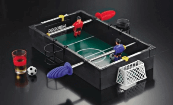 Foosball drinking game.