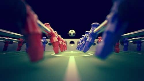 Foosball close-up.