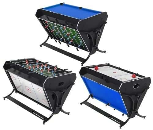 A convertible game table - foosball, air hockey, pool.